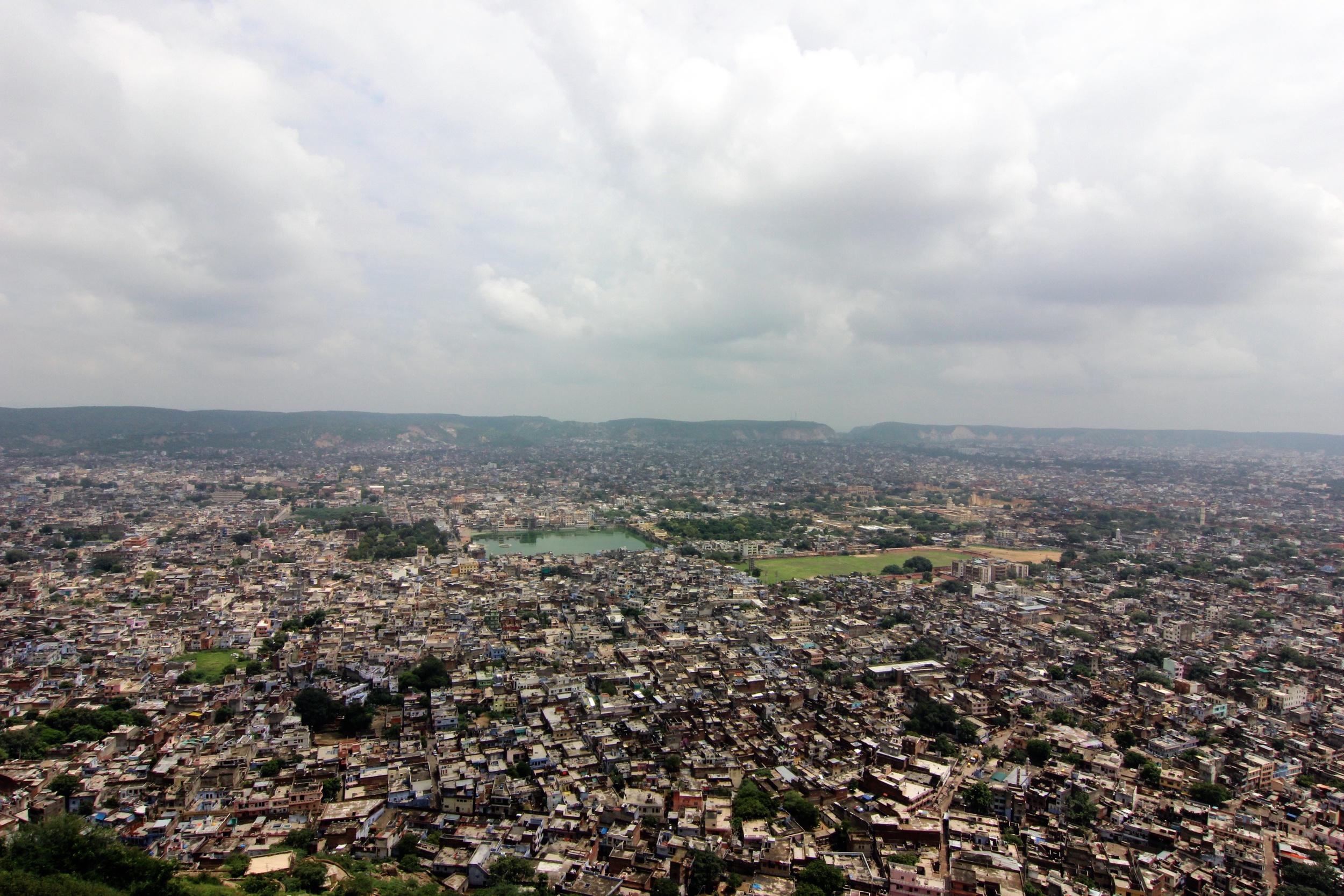 Jaipur from Nahargarh Fort.