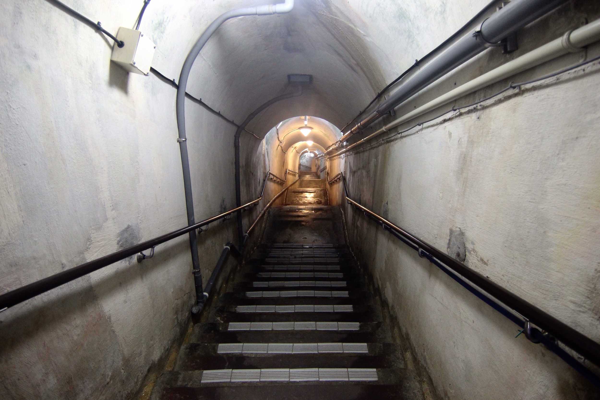The entrance to the tunnels.