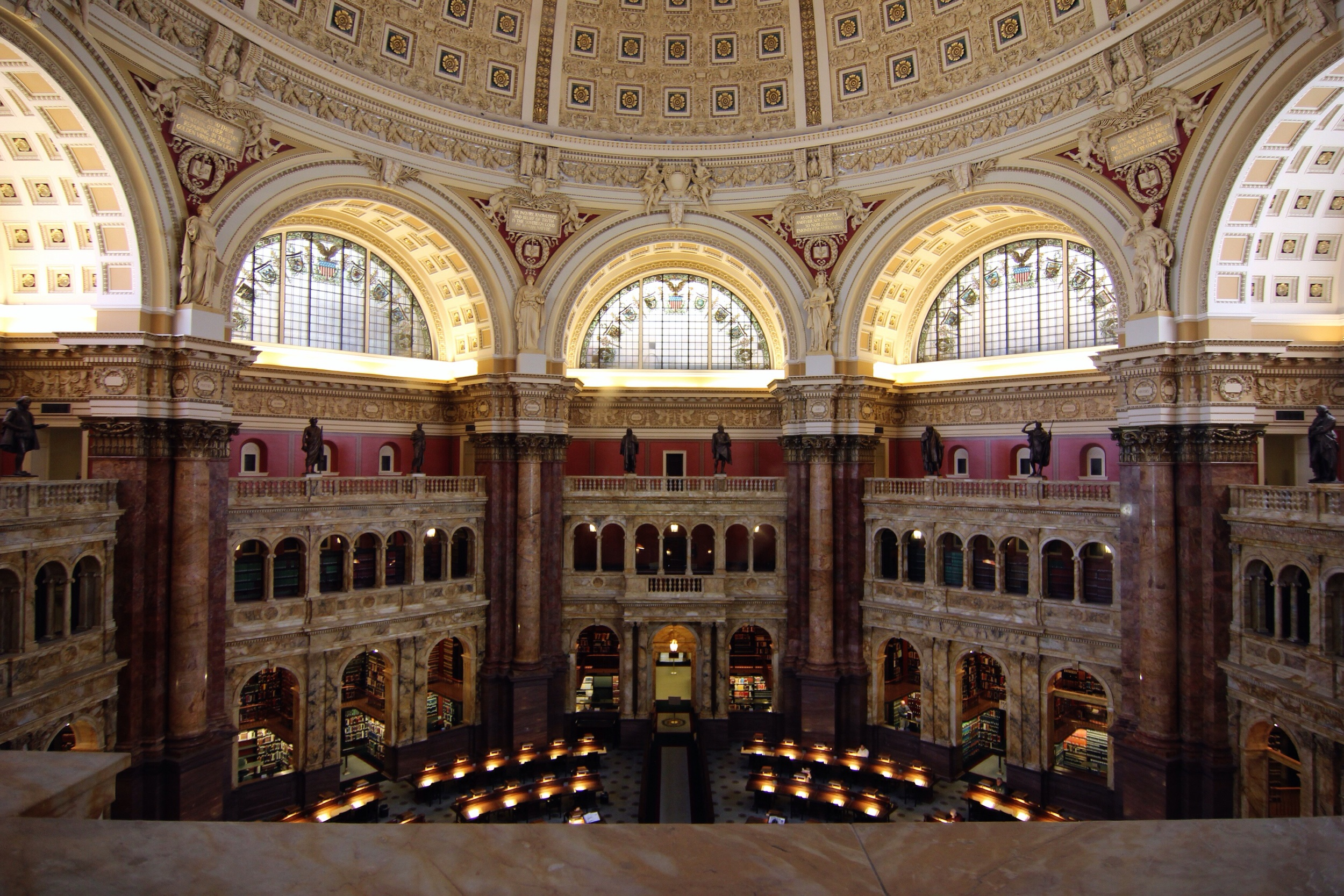 The Reading Room in the Library of Congress.