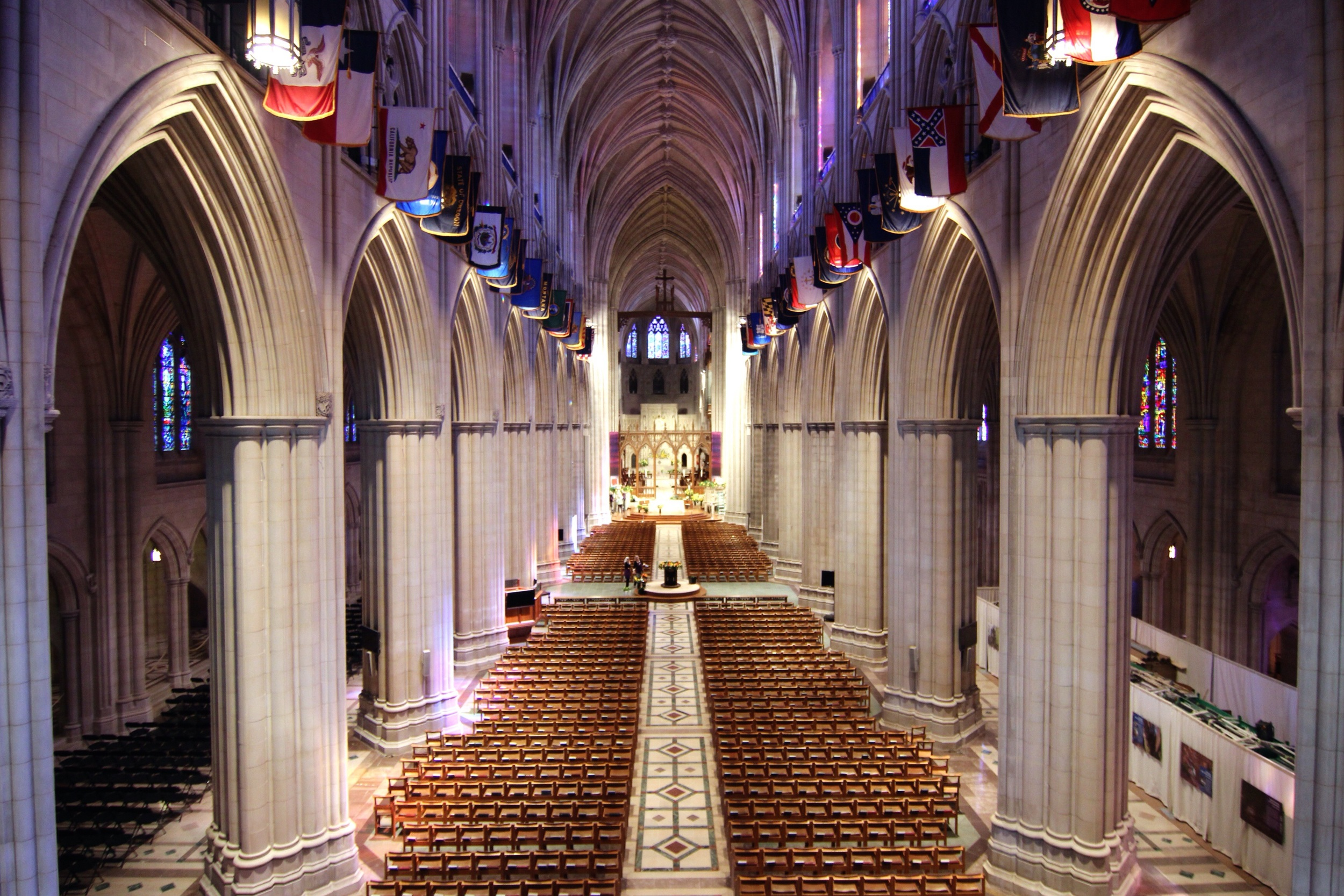 Inside the National Cathedral.
