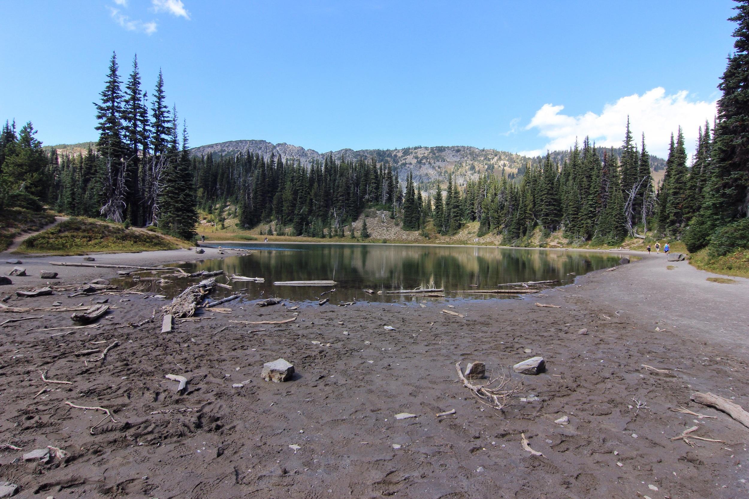 Receding lake.