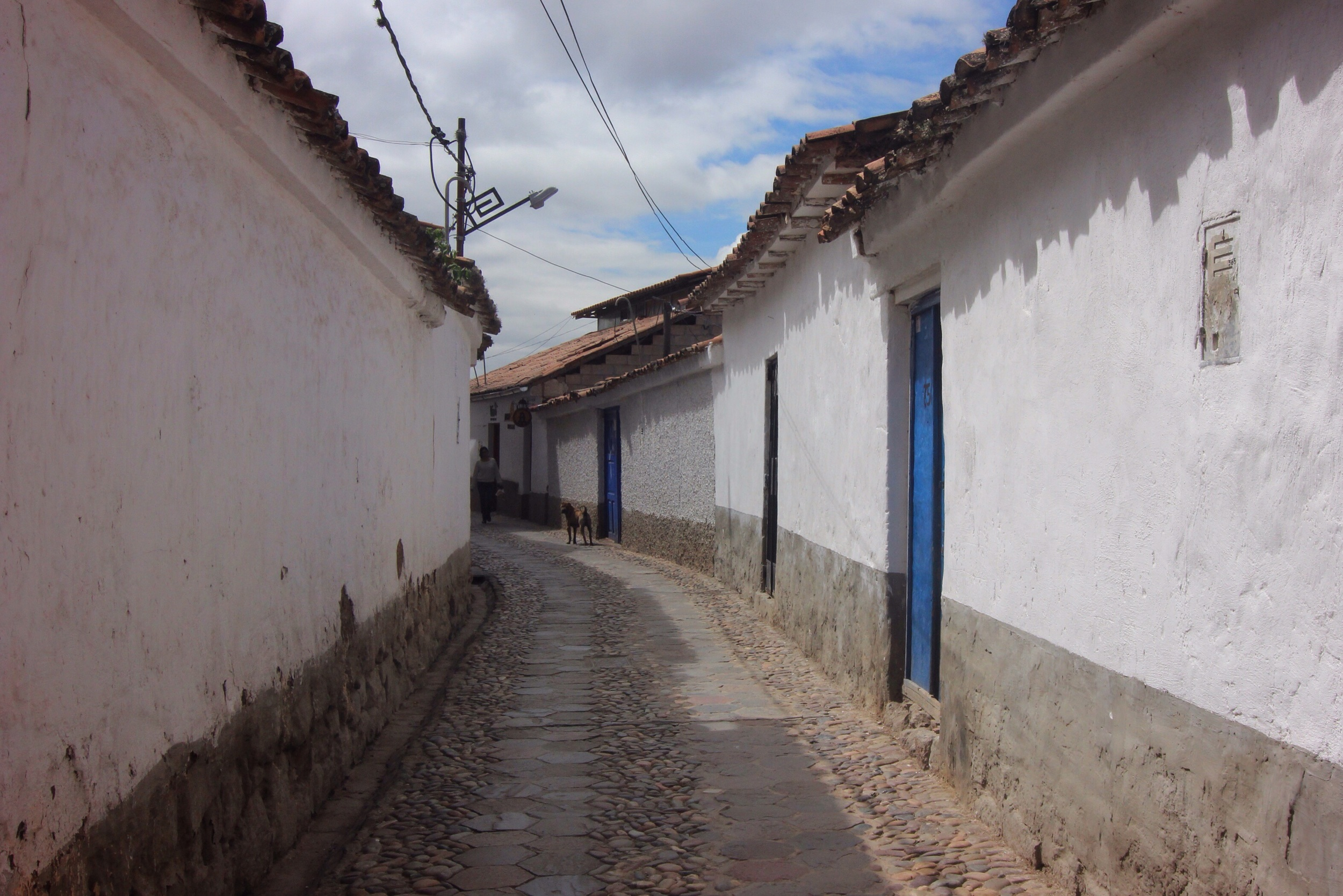 A narrow street in San Blas neighborhood.