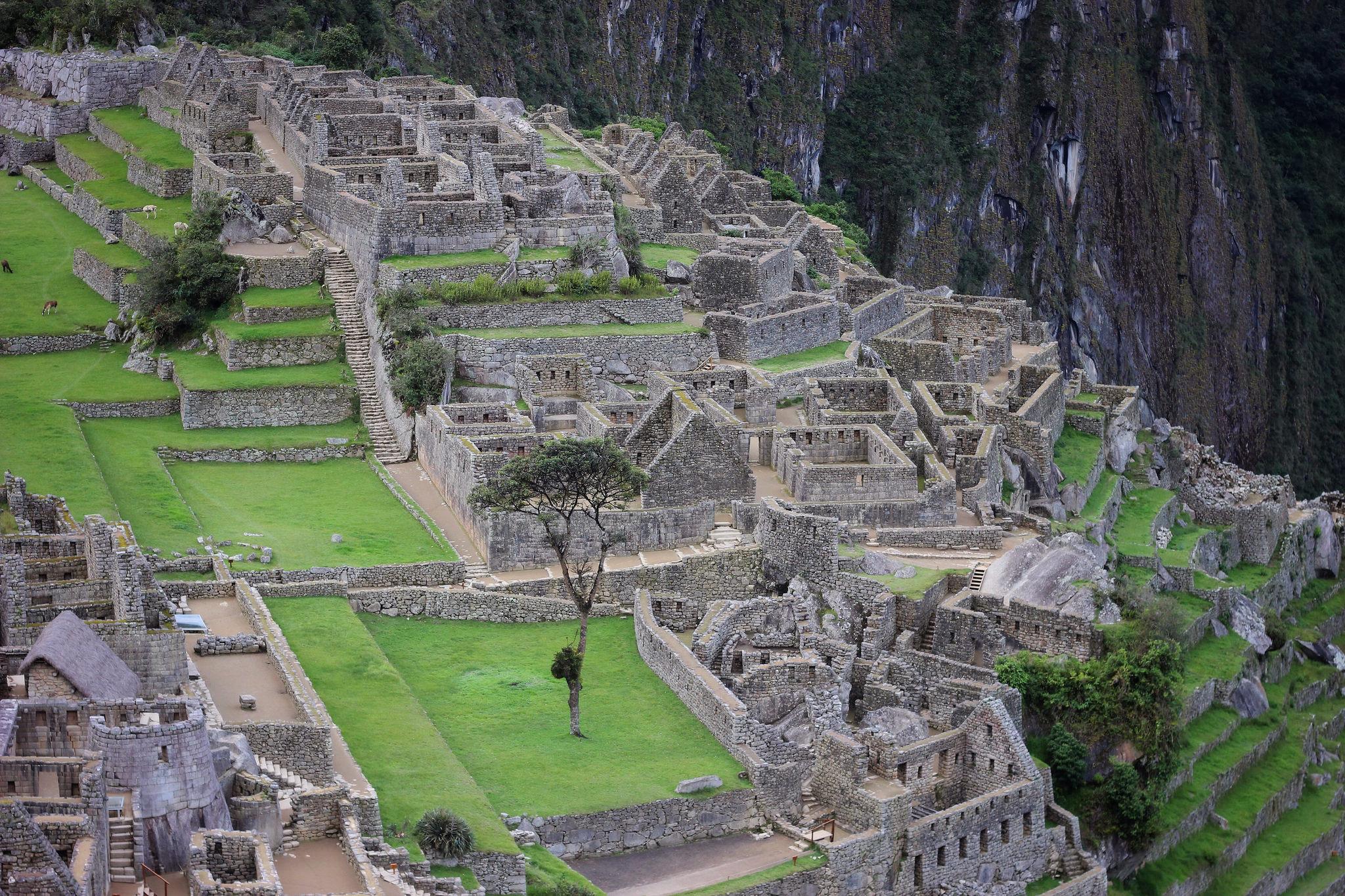 Empty Machu Picchu.