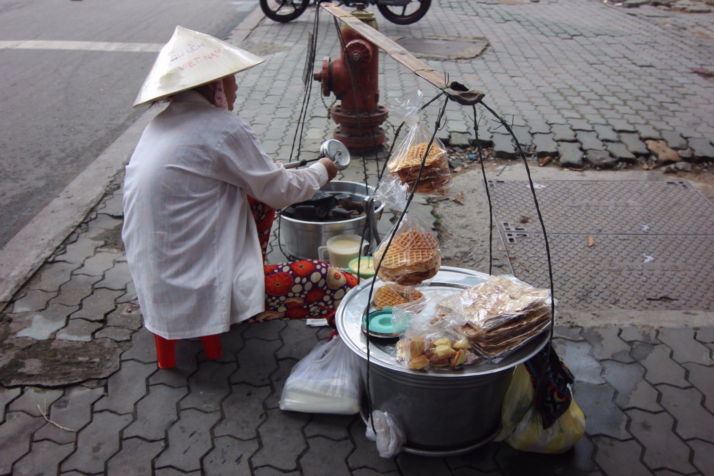 A street vendor near our hotel.