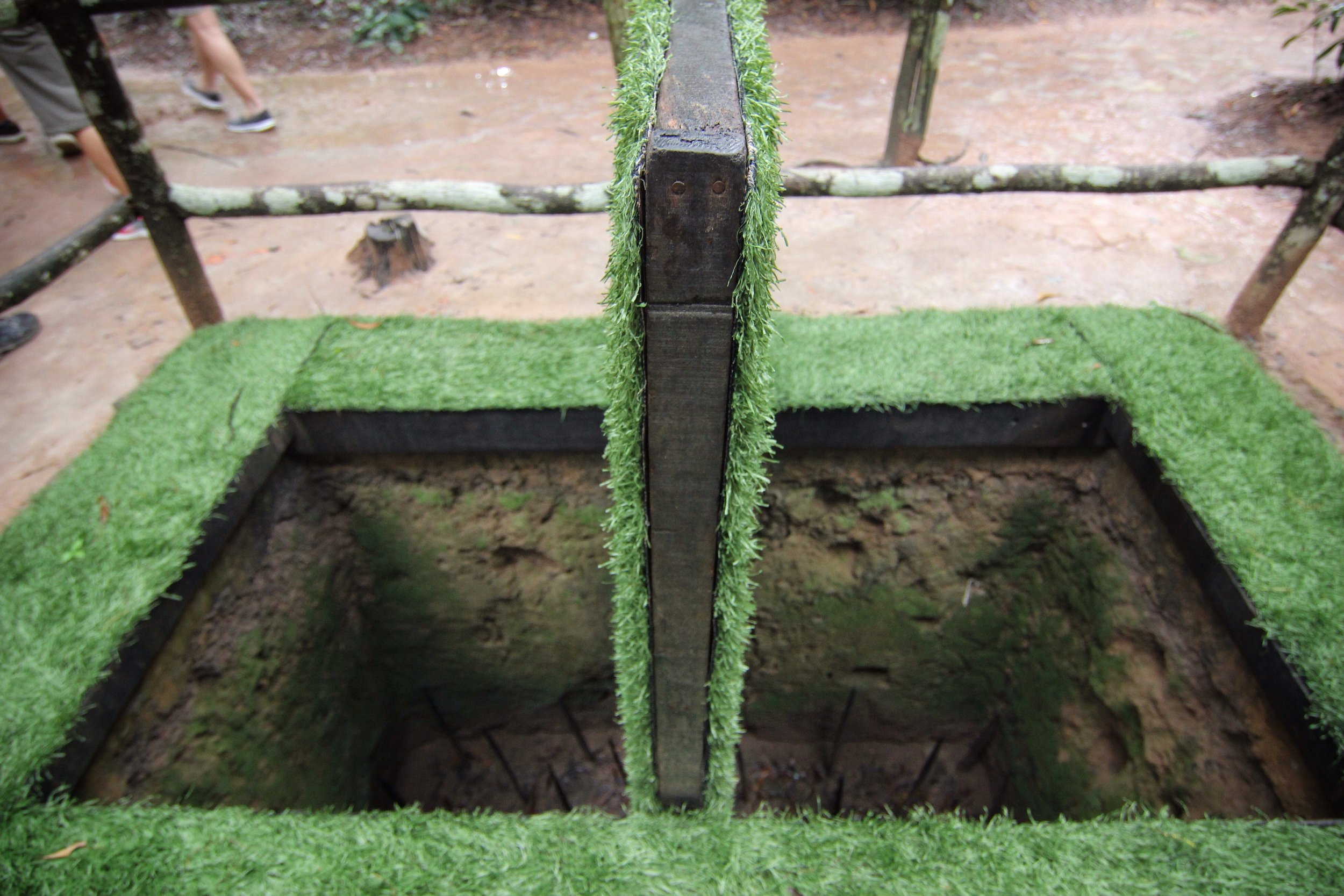 One sort of a trap - a false floor above a pit of spikes.