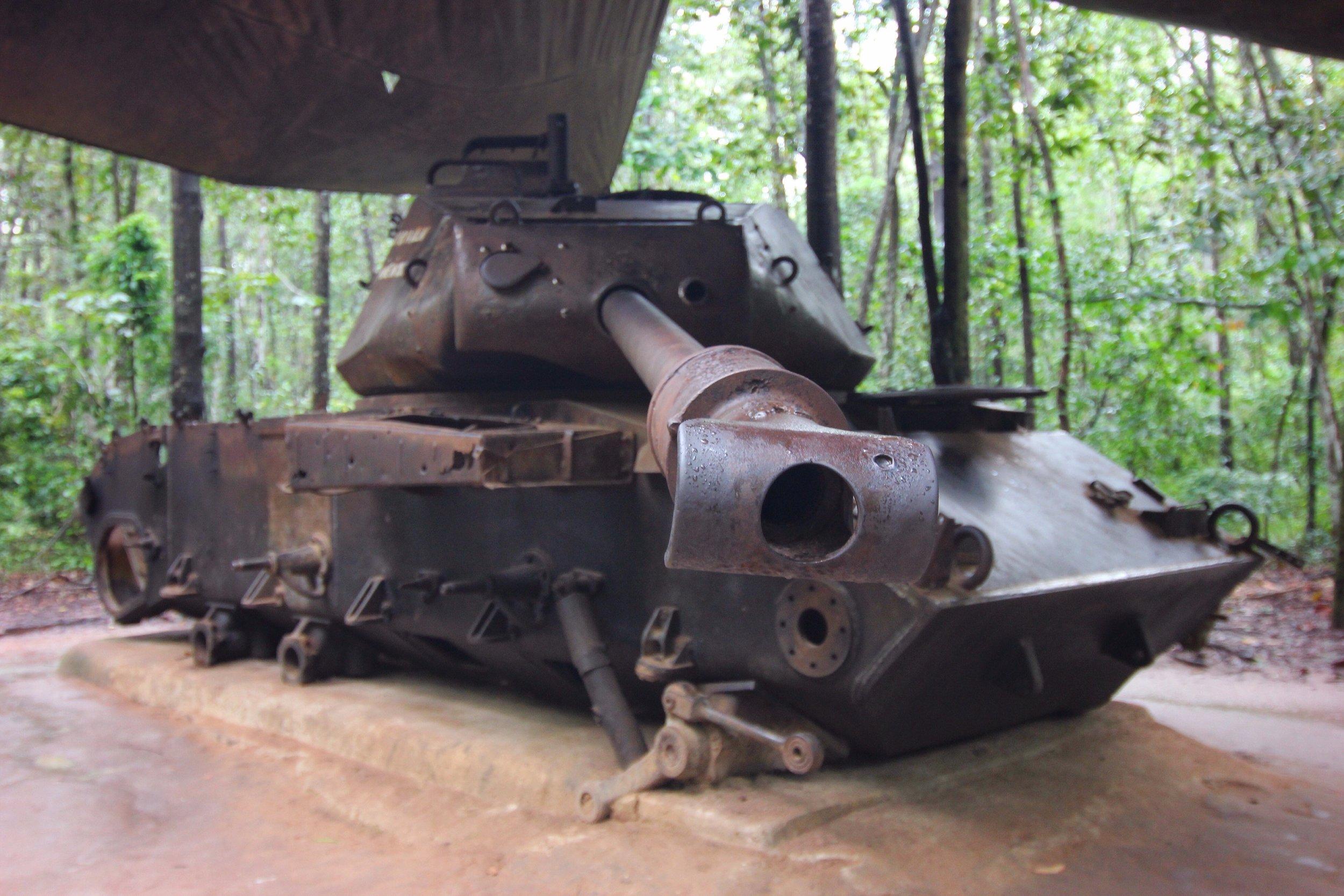 A defunct tank.