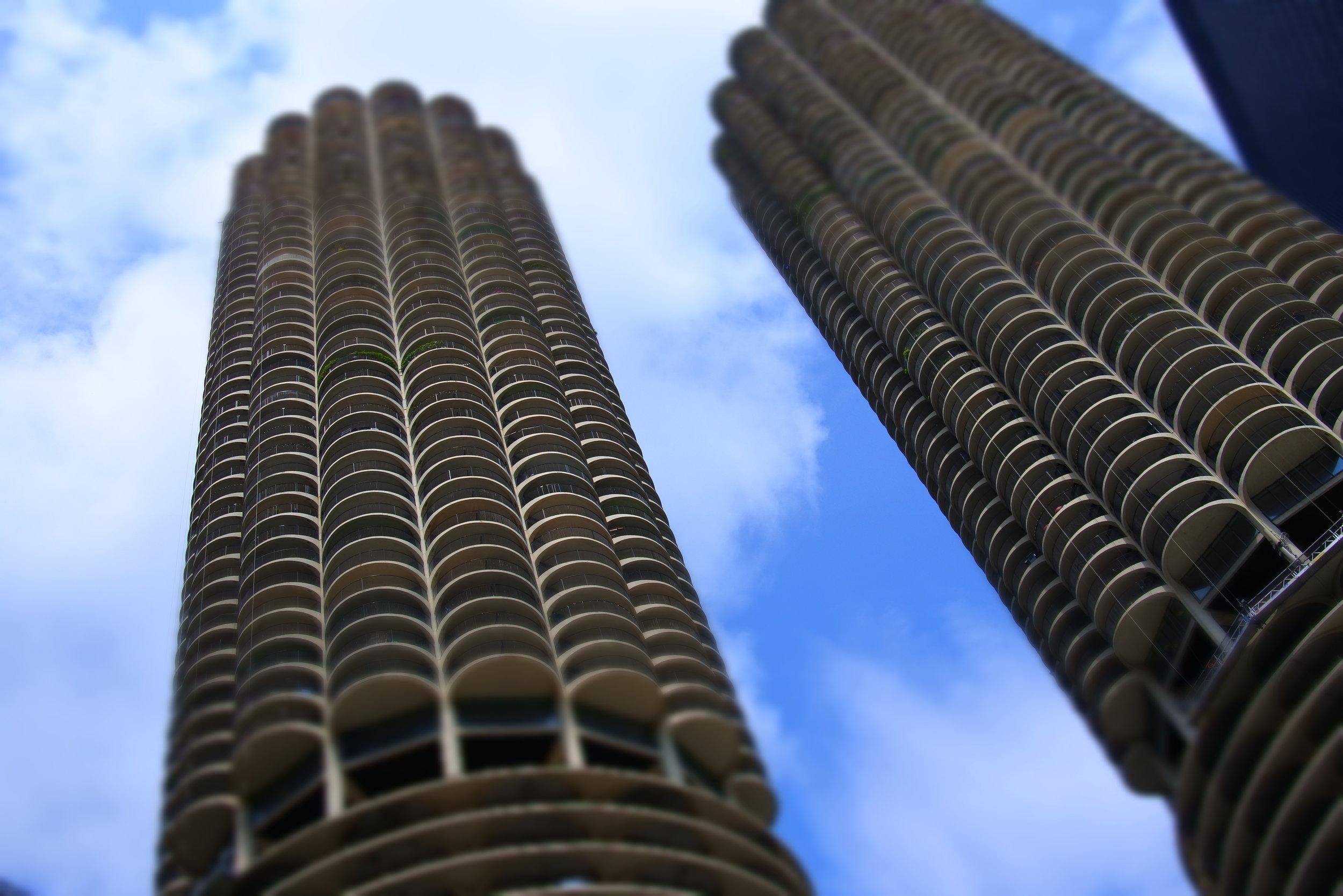 Marina City (aka the Corn Cob Buildings) by architect Bertrand Goldberg.