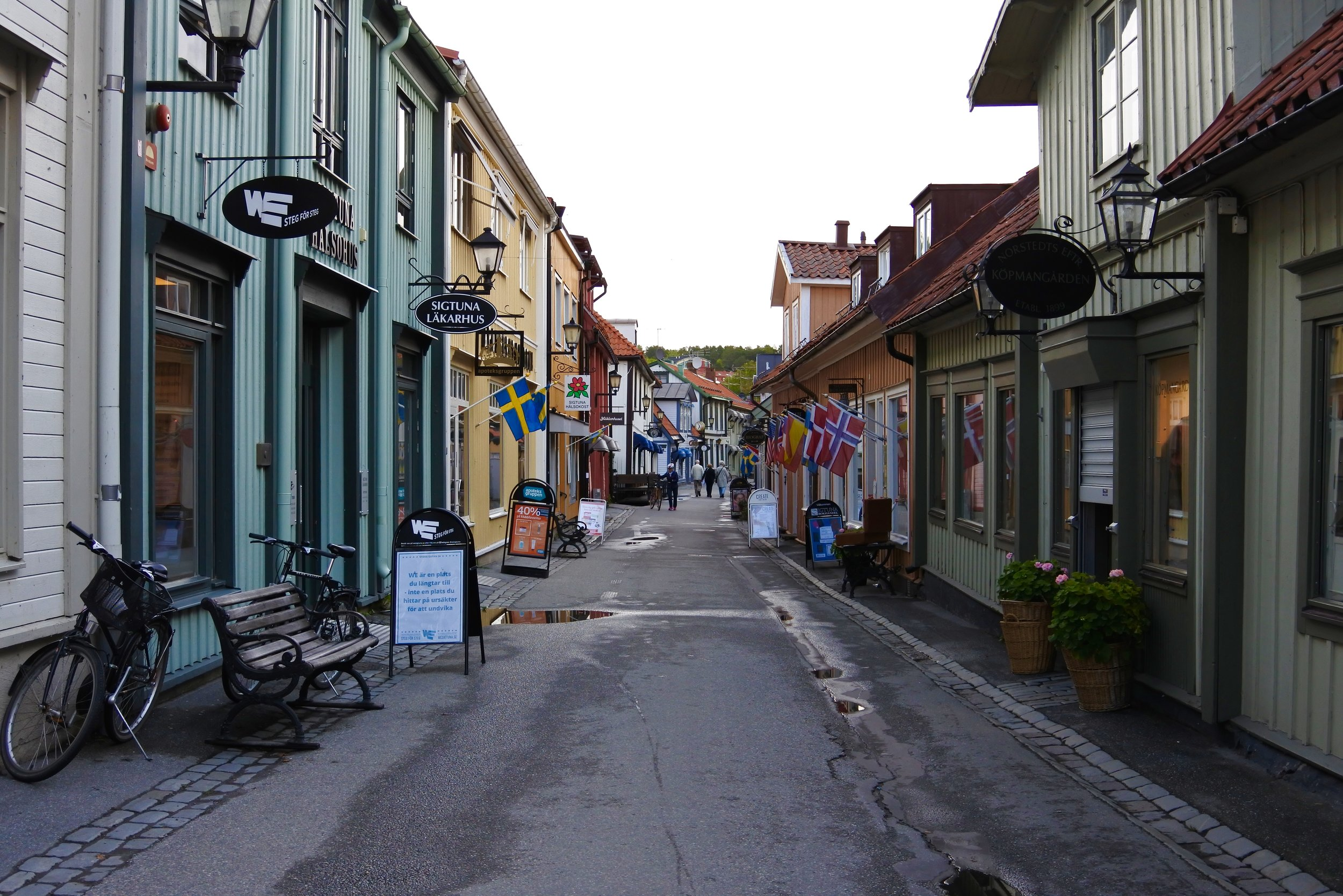 Stora Gatan, the main street in the historical city center.