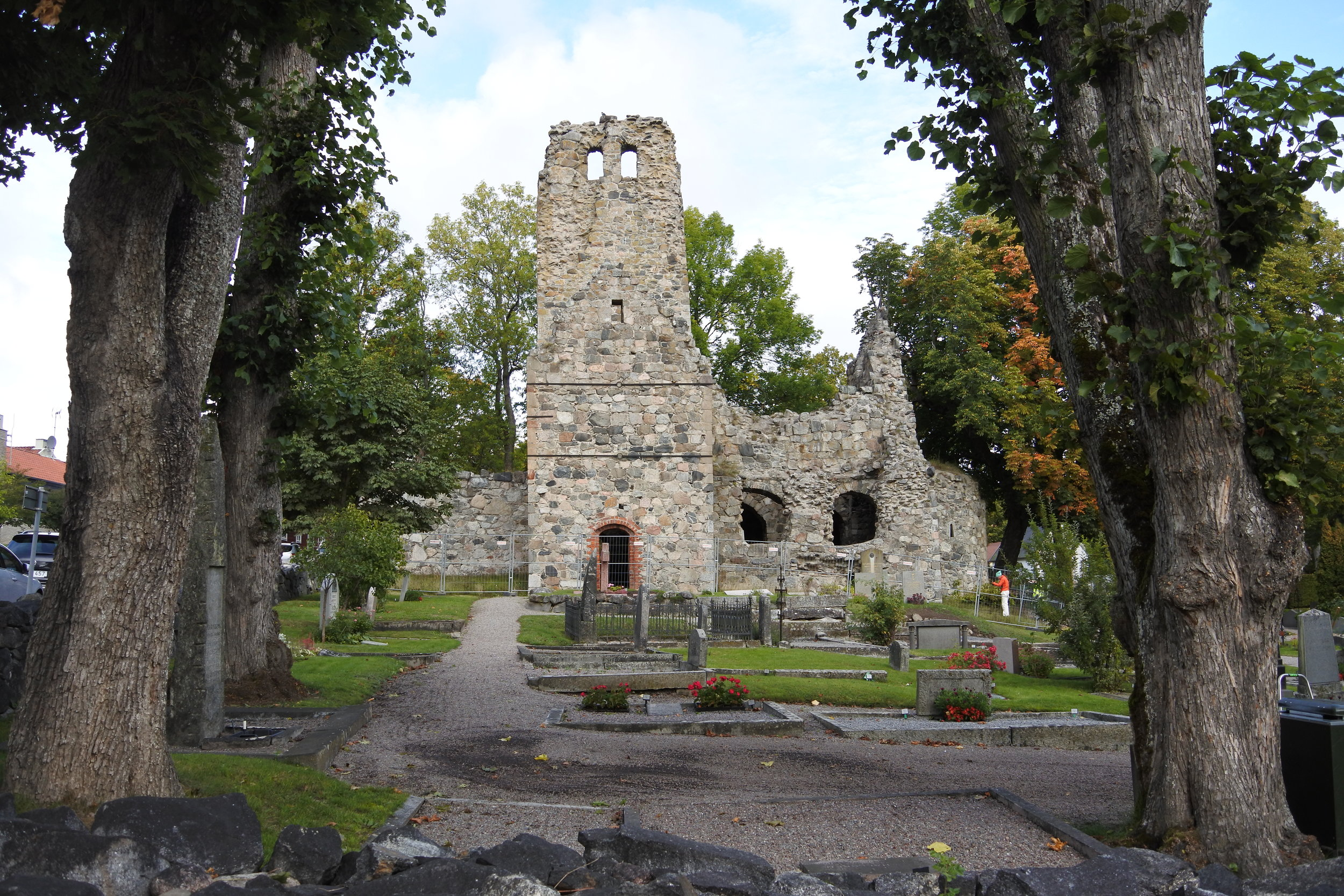 St. Olof's Church ruins.