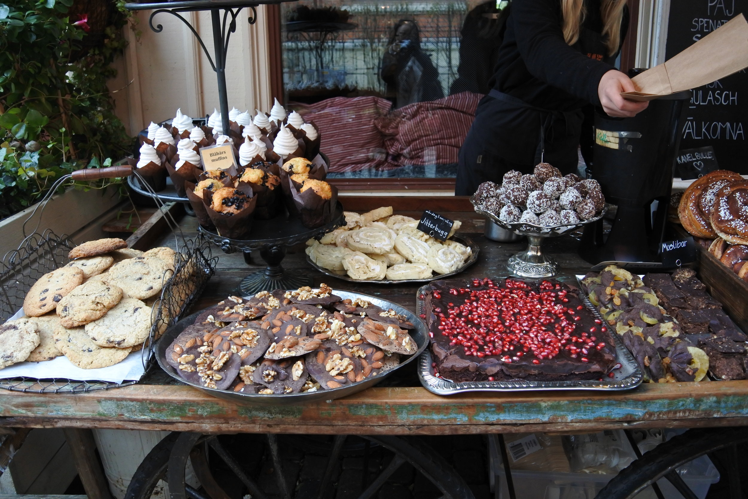 Traditional sweets in old town.