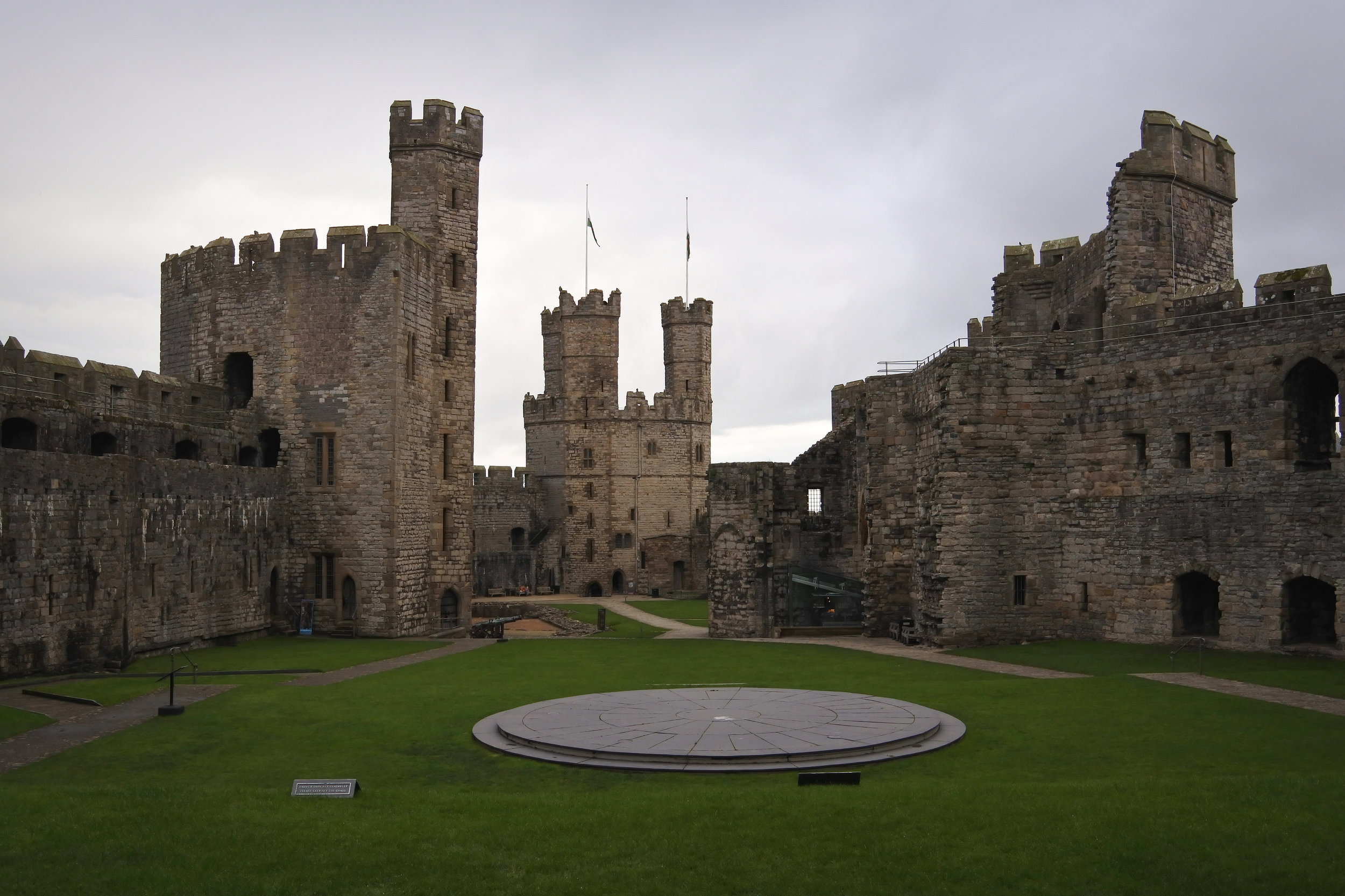 View of Caernarfon Castle.