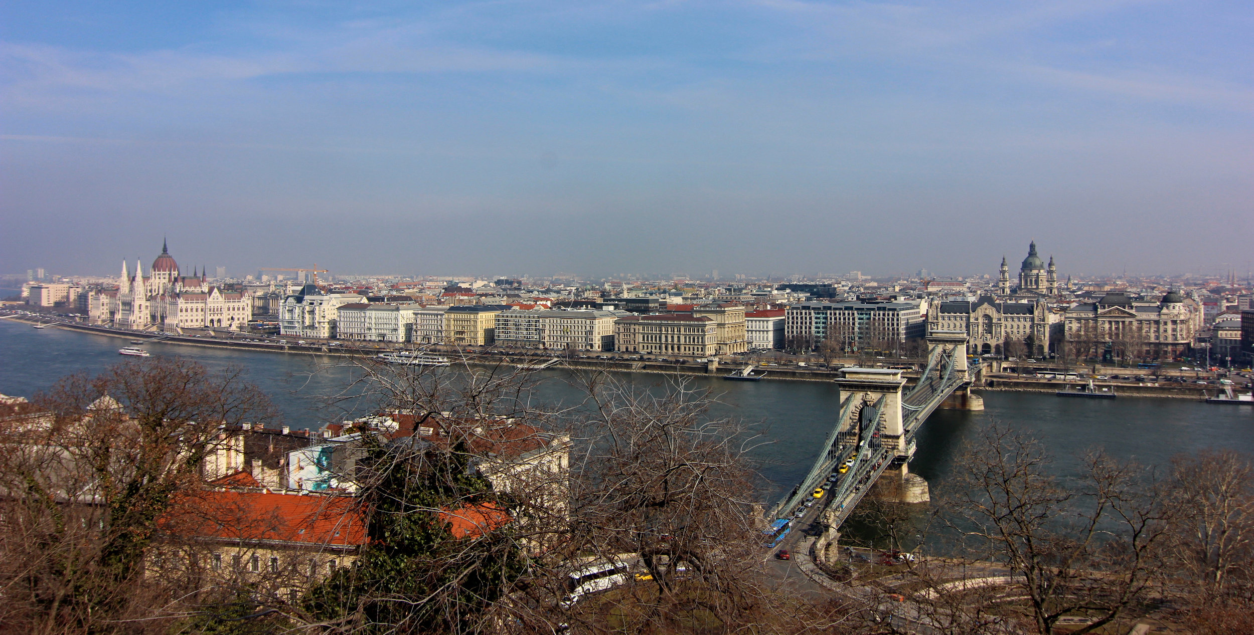 View of Pest and the Chain Bridge.