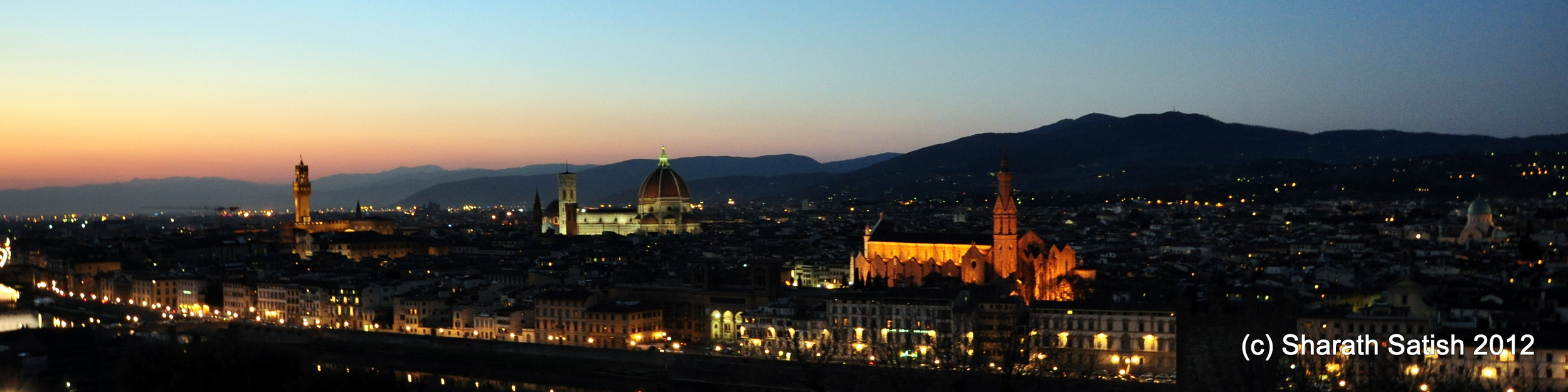 A beautiful panorama of the city of Florence