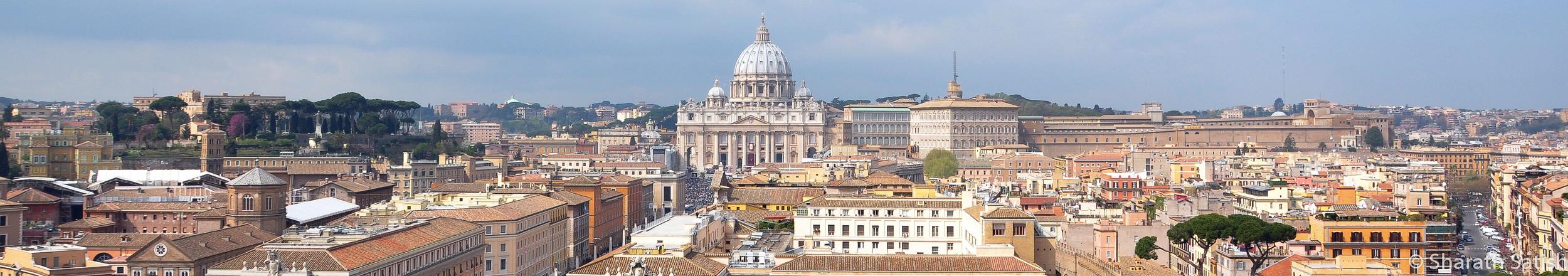 Vatican City seen from Castel Sant'Angelo