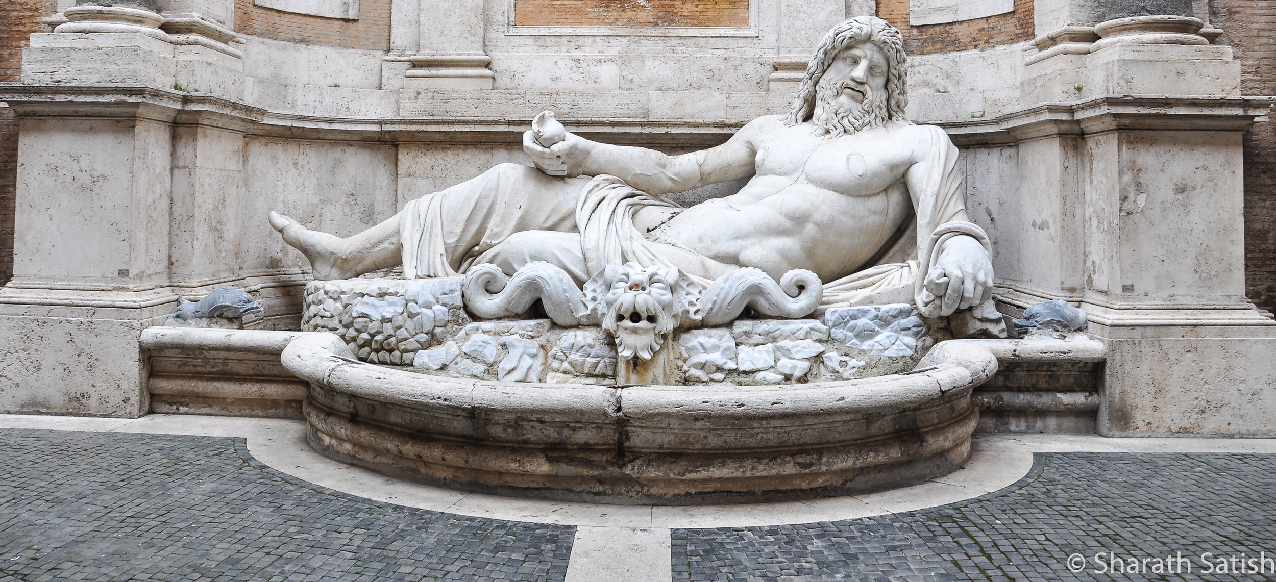 One of the many sculptures on display inside the Musei Capitolini