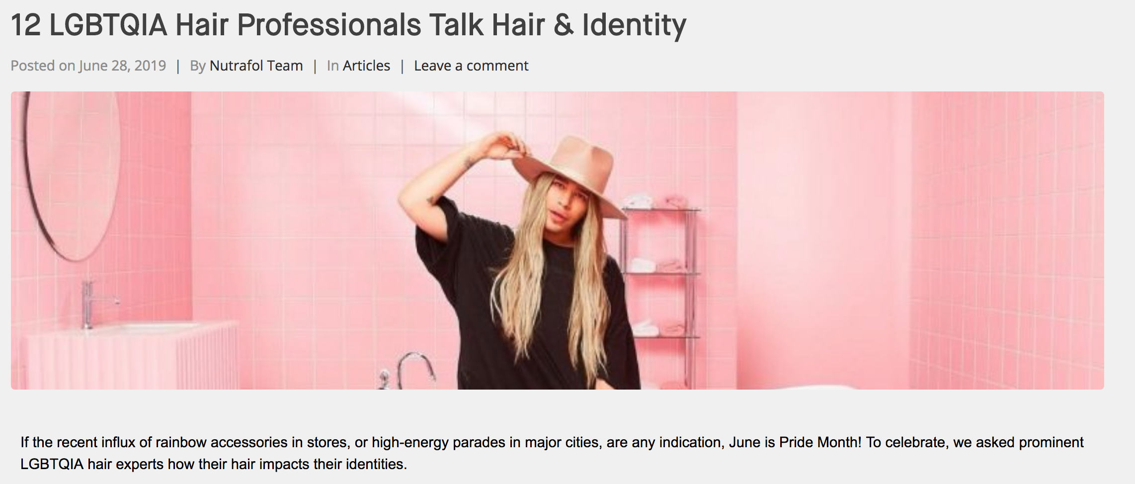 Nathan Alan, Hairstylist for Nutrafol