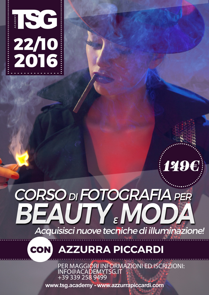 Copy of Corso di fotografia avanzato per Beauty e Moda