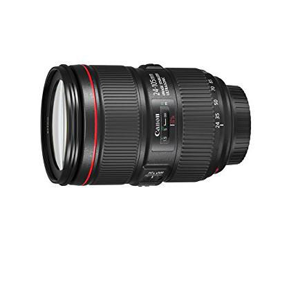 Canon Obiettivo - EF 24-105 mm f/4L IS II USM, Nero, Bulk