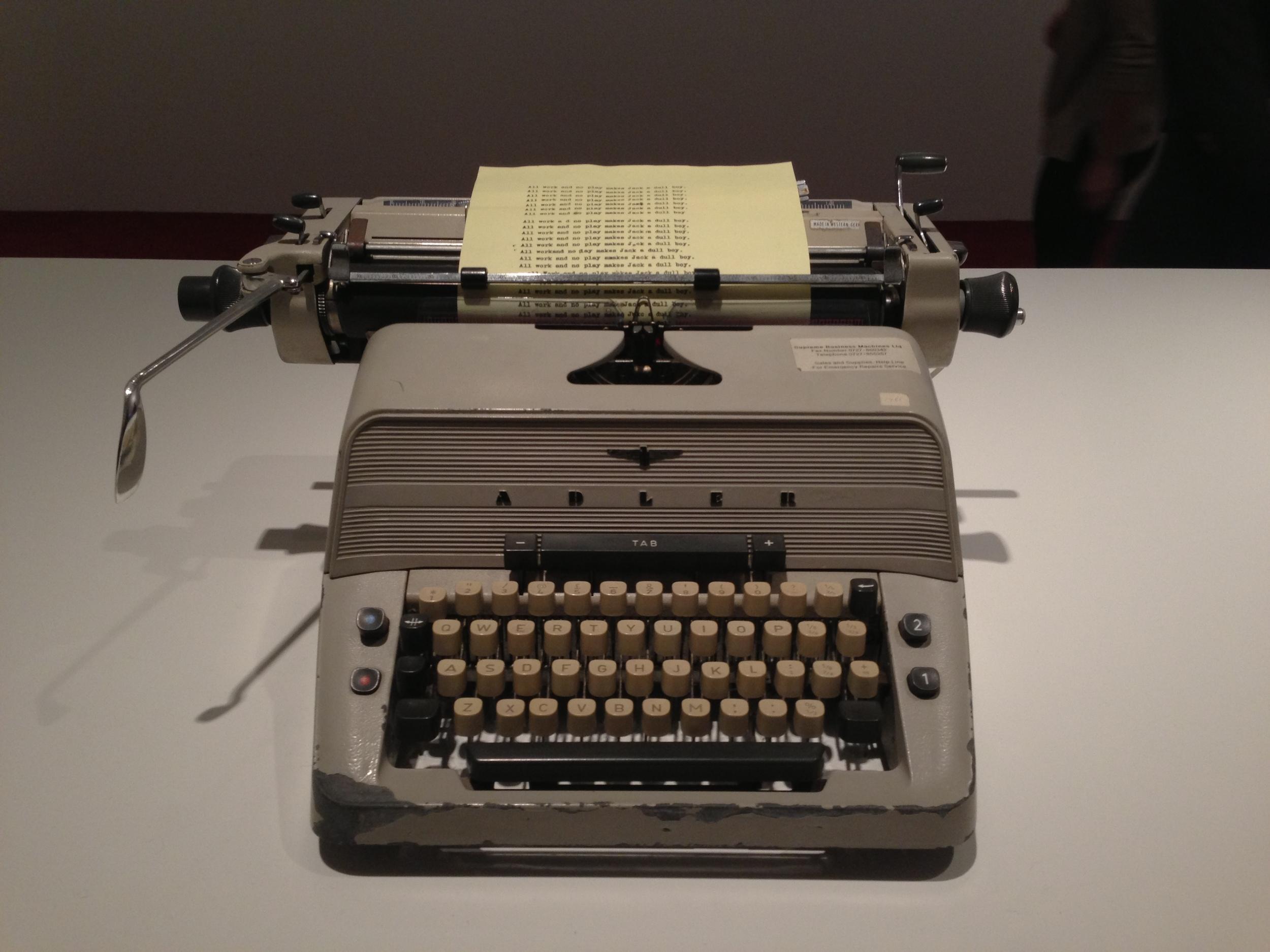Jack's infamous typewriter