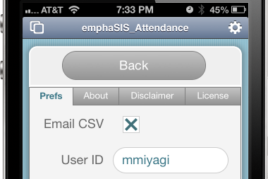turn CSV exports on and off. Your userID will be added to the file name