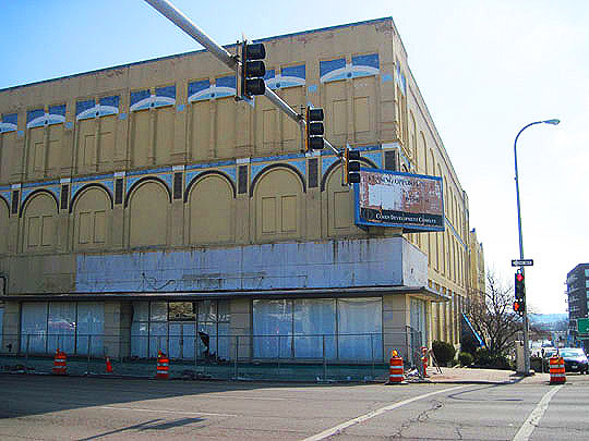 Once a top furniture store in the heart of downtown Peoria, now just a big, old empty building.