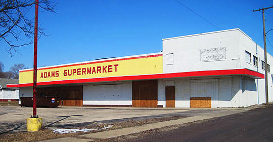Miracle Mart became Adams Supermarket and now it stands vacant.