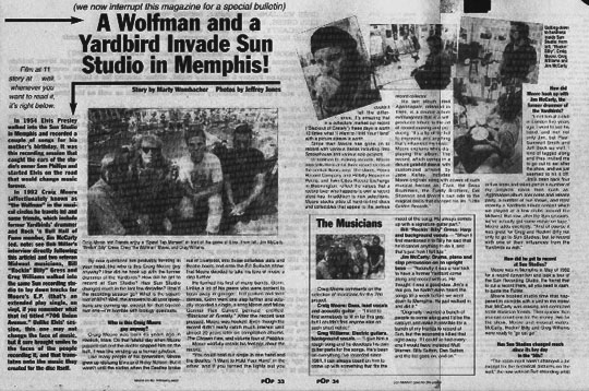 The POP magazine article which chronicled our Memphis journey.