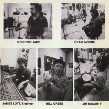 The musicians and engineer are featured in a photo insert that comes with the EP. The photos are by Jeffrey Jones.