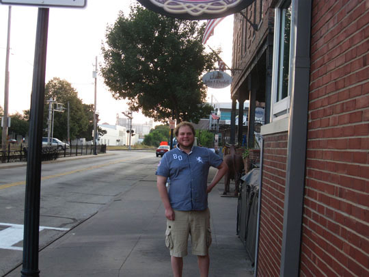 6. Brenton in front of Kelleher's.JPG