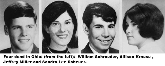 Images of Kent state shooting victims May 4, 1970