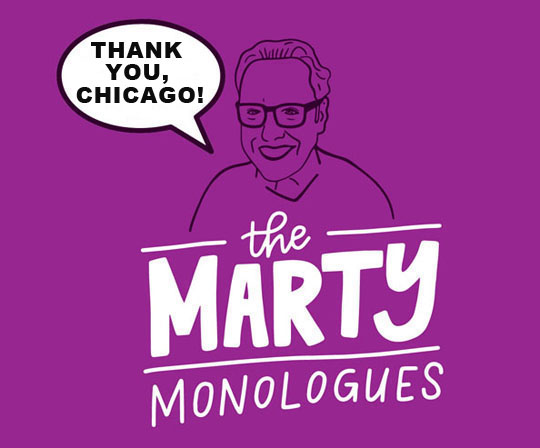 Marty Monologues art & design by Chelsie Tamms of    Lettering Works   .