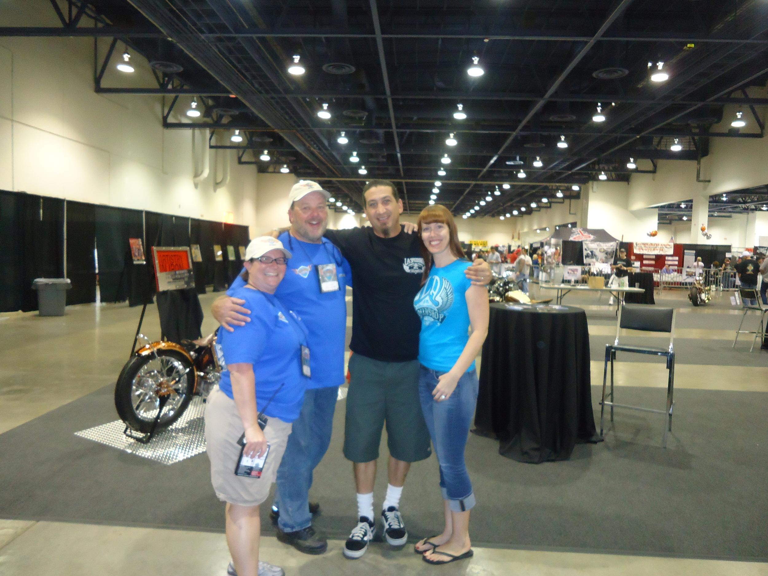 Chris & Fiona with Mindi & Mike (part of the amazing LV Bikefest staff)