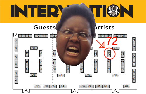 I was assigned to table 72. Where do you think that might be......