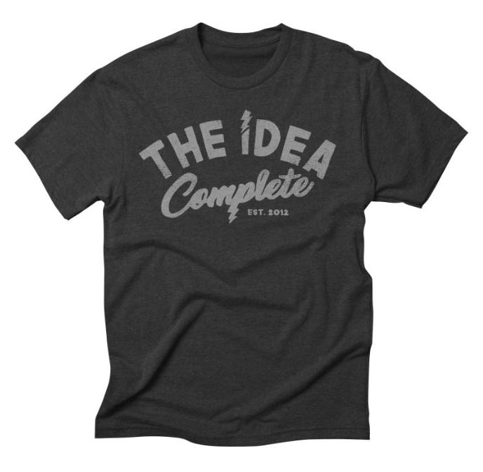 The Idea Complete Distressed Logo Tri-Blend Tee // Heather Onyx - $24