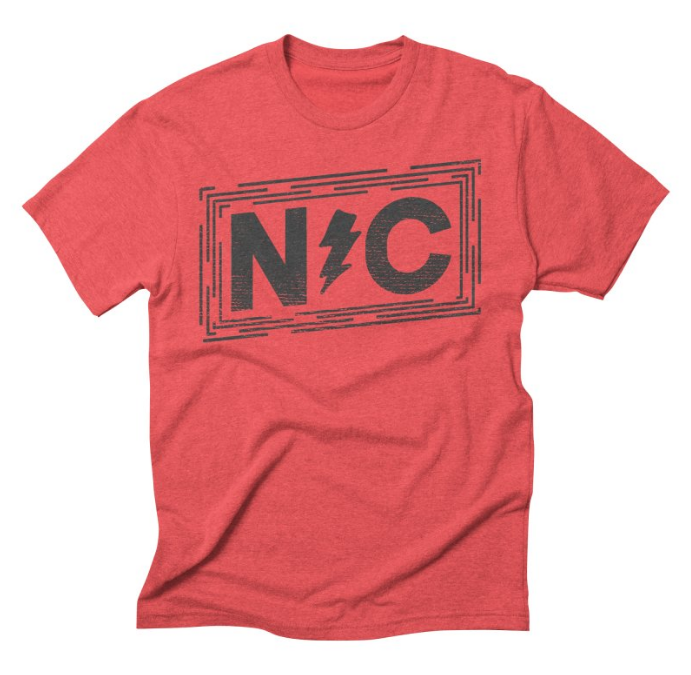 North Carolina Distressed Tri-Blend Tee // Chili Red - $24