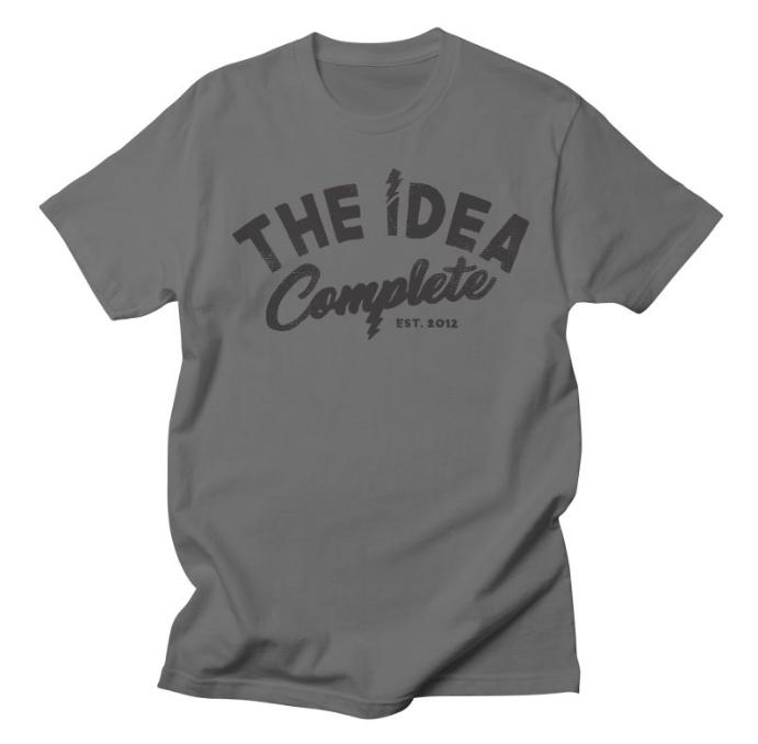 The Idea Complete Distressed Logo Tee // Asphalt Gray -  $20