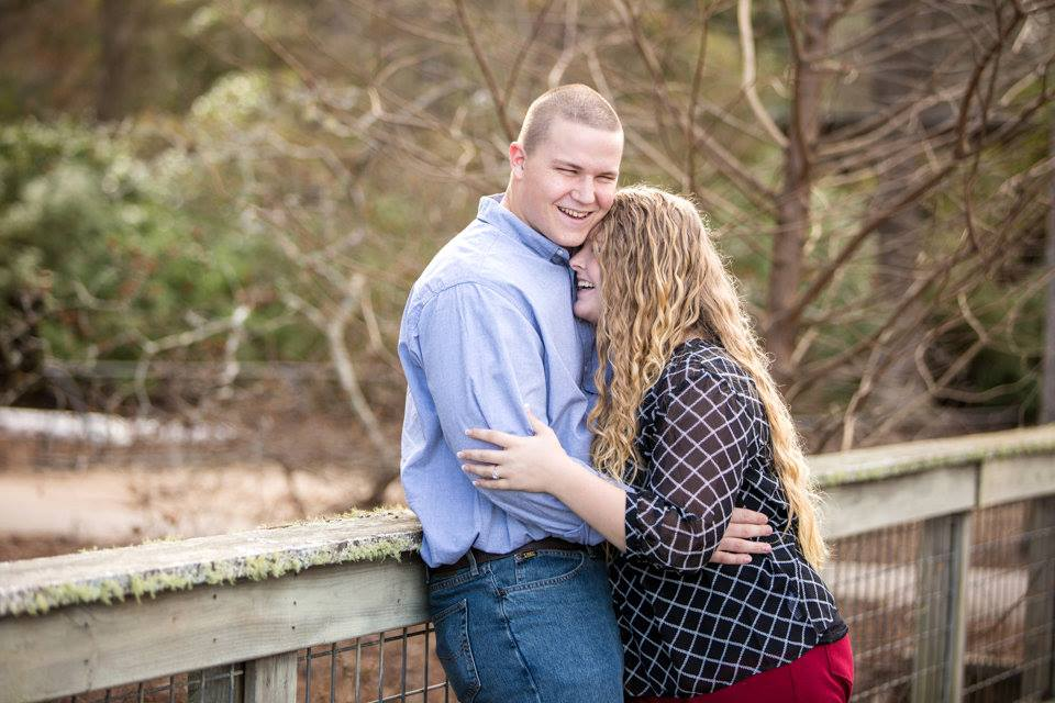 This is me and my husband during our engagement session. Laughing at Tyler probably :) (Photo Credit:  pennilaurenphotography.com  )