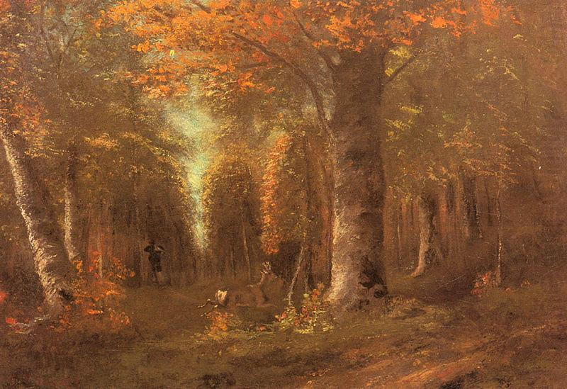 Forest in Autumn by Gustave Corbet