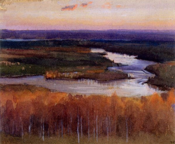 SEPT - Autumn Landscape with a River-1895- by Eero Järnefelt.jpeg