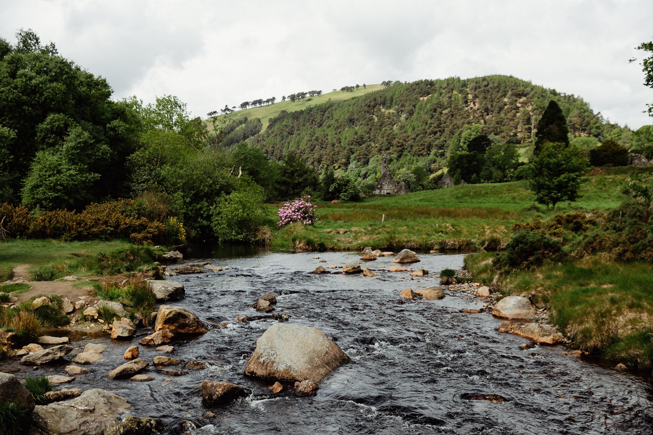 Glendalough-Ireland-Creek-View
