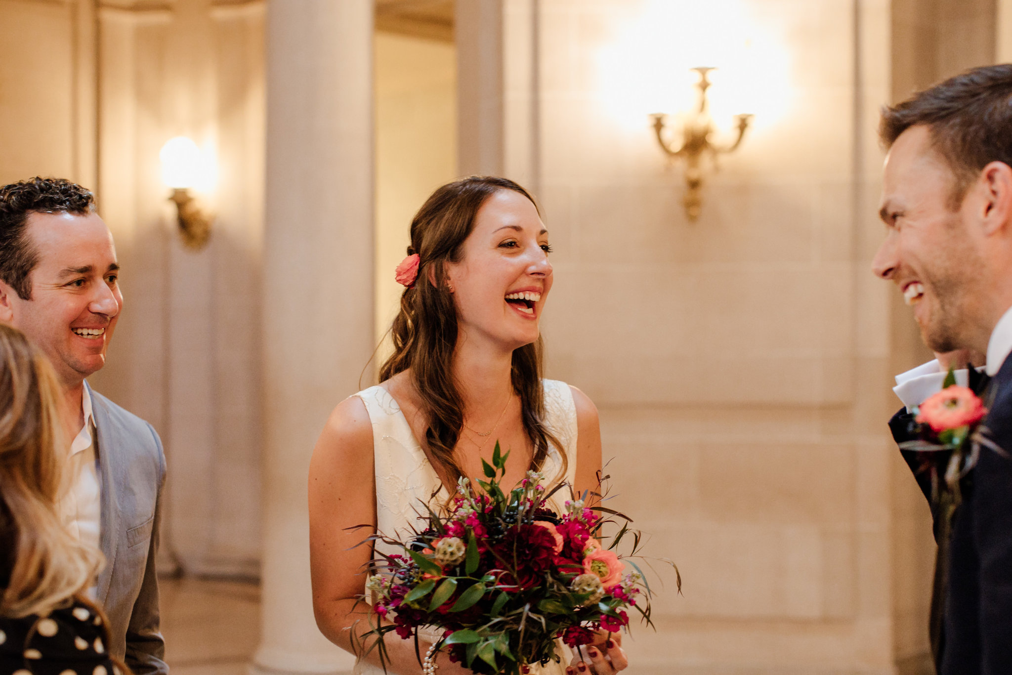 Laid back city hall wedding