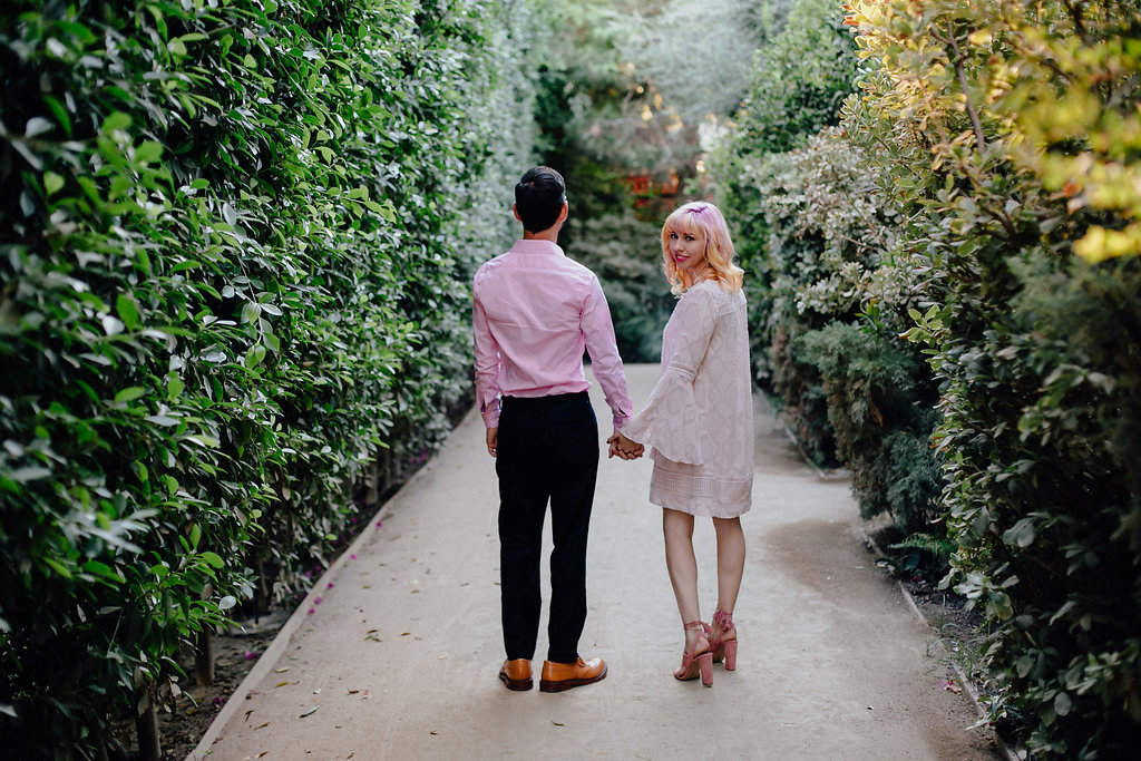 A funky and vibrant engagement session at The Parker in Palm Springs