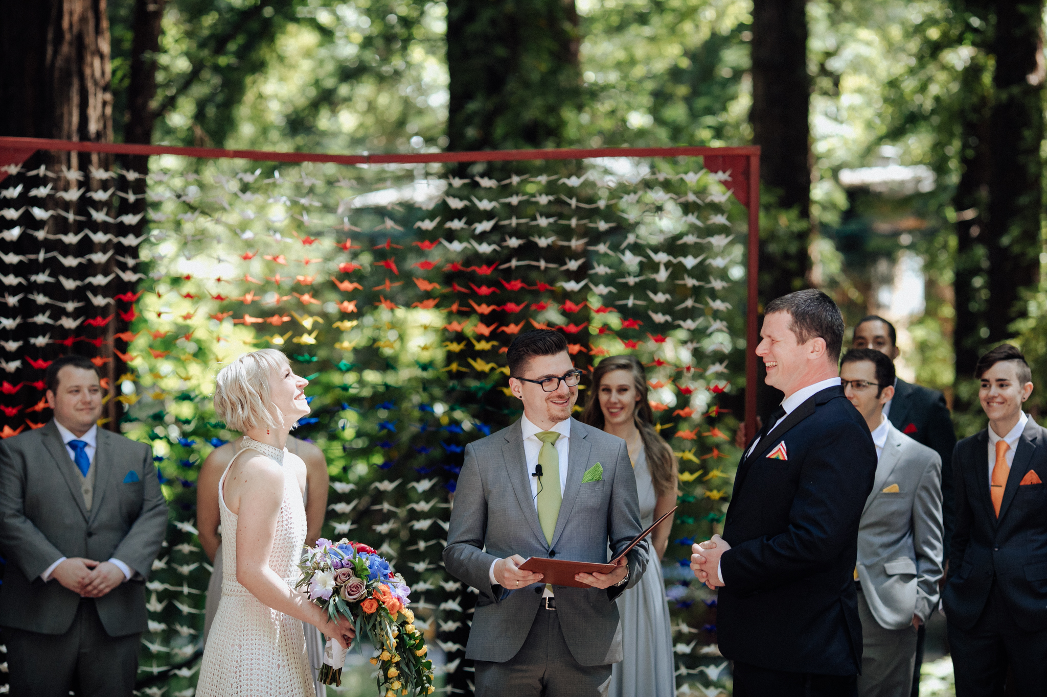 Wedding Ceremony Old Mill Park Mill Valley