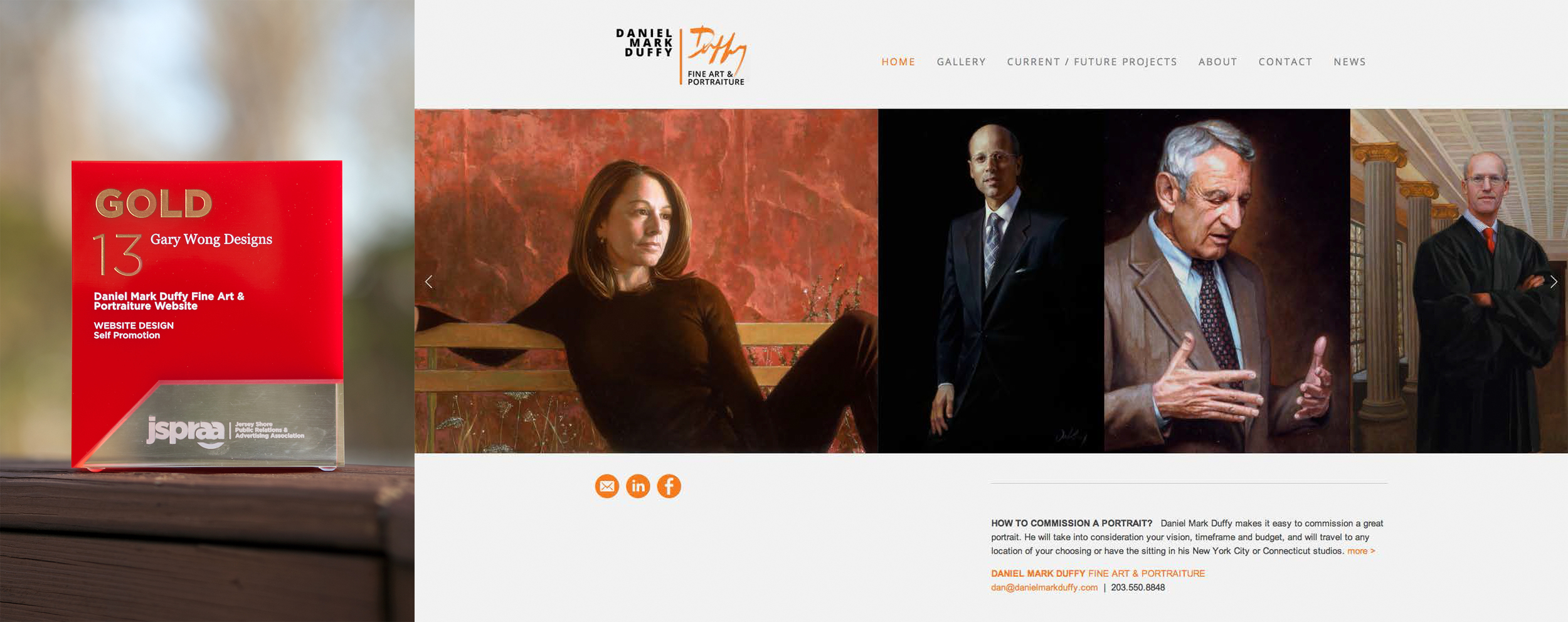 Client: Daniel Mark Duffy Fine Artist Category: Website Design, Self Promotion
