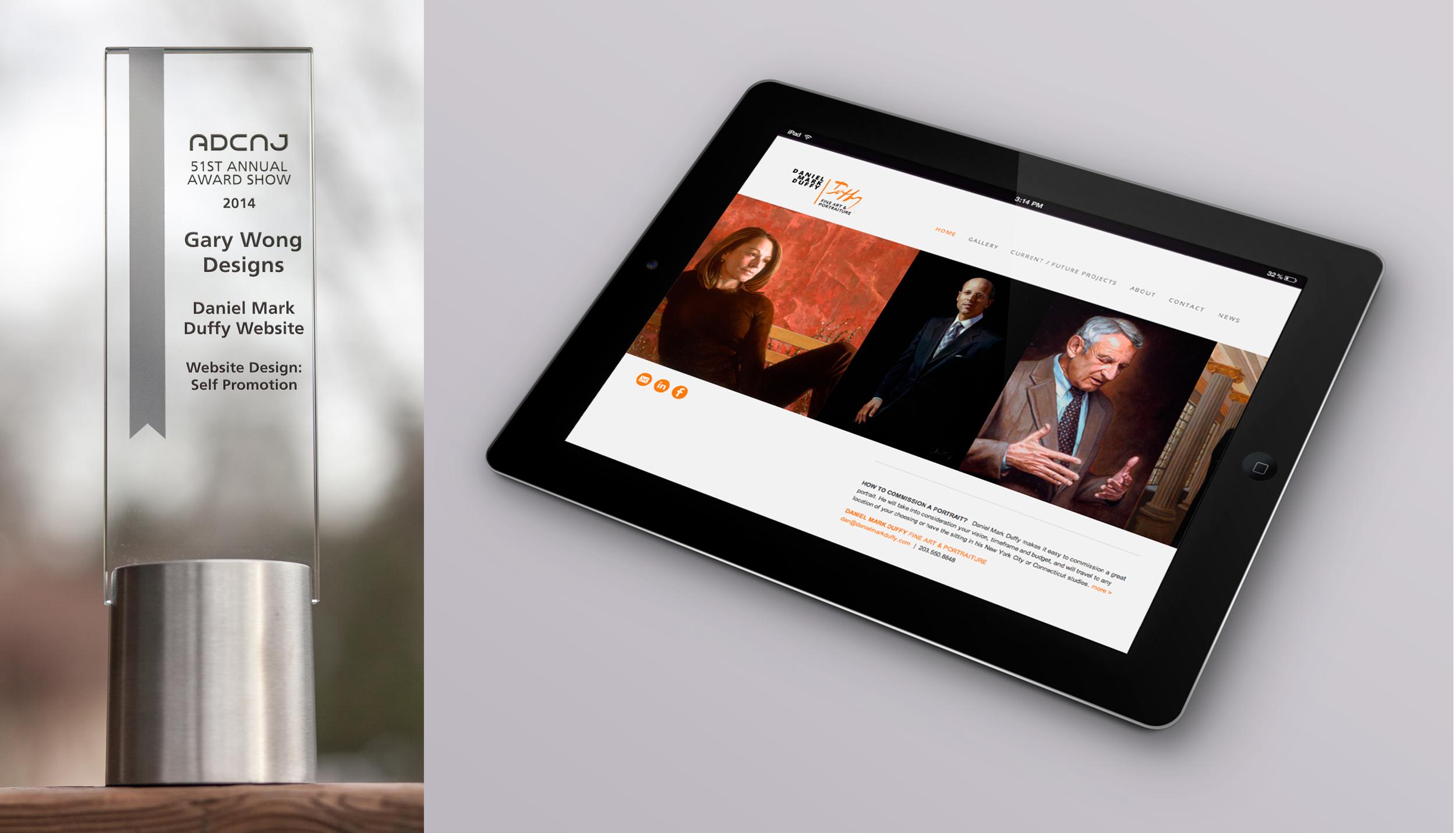 Client: Daniel Mark Duffy Fine Art + Portraiture Category: Website Design: Self Promotion