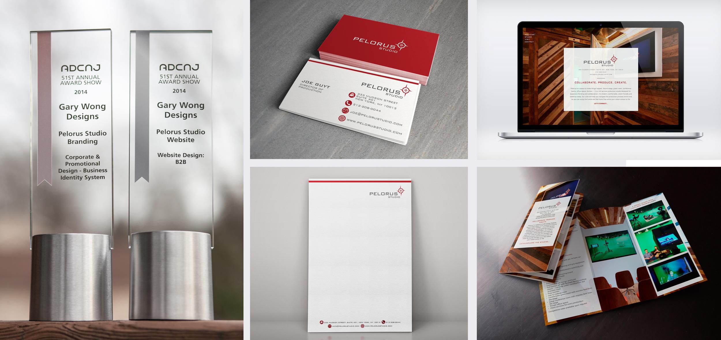 Client: Pelorus Studio Categories: Corporate & Promotional Design–Business Identity Systems; Website Design: B2B