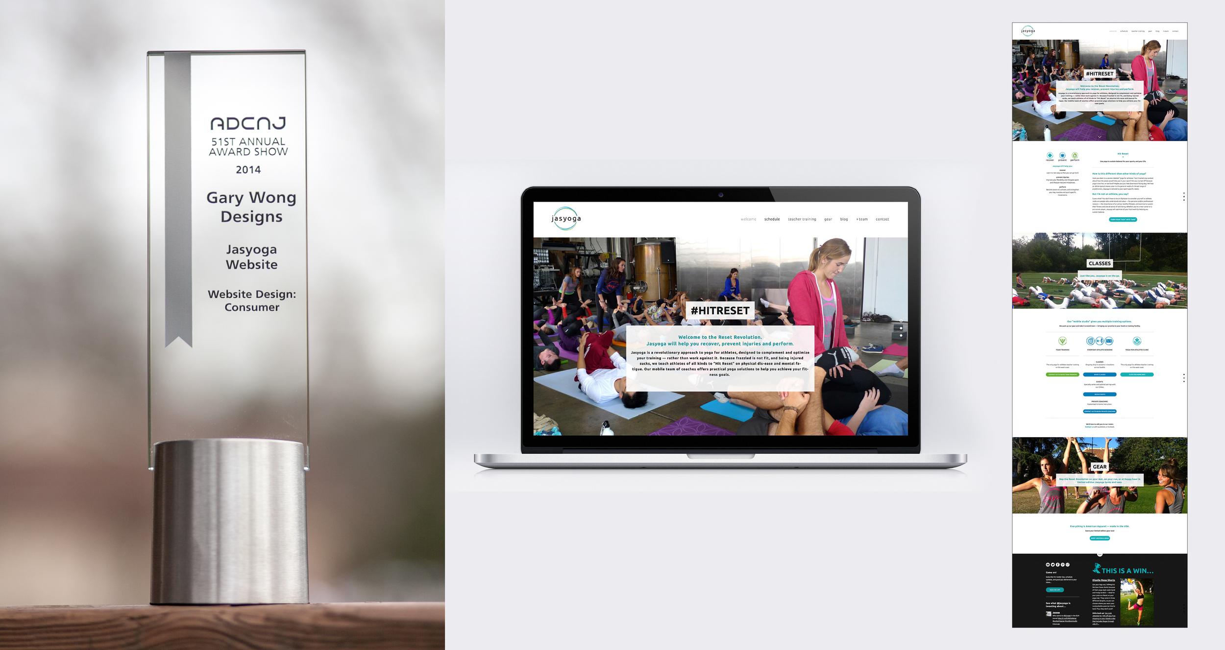 Client: Jasyoga Category: Website Design–Consumer