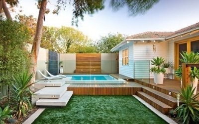 Levels within your landscape and pool design help to create interest.