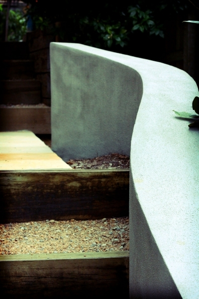 Auchenflower, QLD    Contemporary landscape design on a sloping block.  Read more...