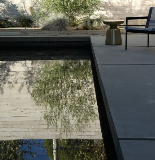Dark pavers absorb, and hold, the heat.